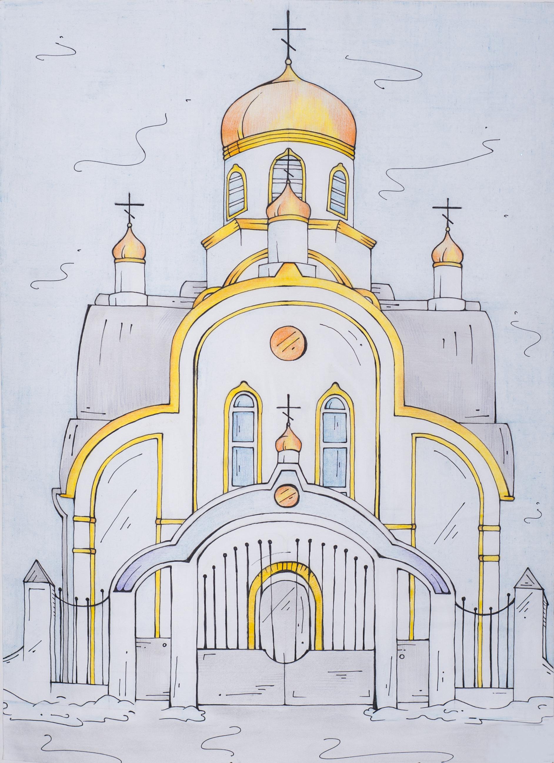 Изображения Храм Рисунок / tonpix.ru Пасха Рисунки Карандашом