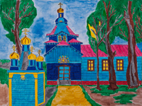 The road to the temple, Kinash Daria : Children's Art Festival Our Kursk: CHILDREN DRAW THE CHURCH