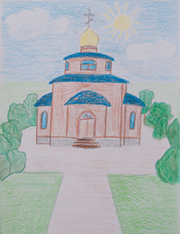 The holy place, Korkudysh Igor : Children's Art Festival Our Kursk: CHILDREN DRAW THE CHURCH