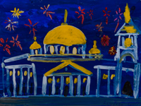 Cathedral of the Sign, Kursk, Harseeva Ekaterina : Children's Art Festival Our Kursk: CHILDREN DRAW THE CHURCH