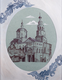 Temple of the Most Holy Trinity, Kursk, Buryakova Anna : Children's Art Festival Our Kursk: CHILDREN DRAW THE CHURCH