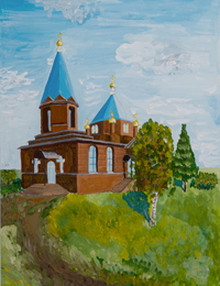 Church of the Epiphany in the village of Great Annenkov, Vyskribentsev Vitaly : Children's Art Festival Our Kursk: CHILDREN DRAW THE CHURCH