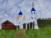 Church of the Holy Bogootets Joachim and Anna, Bobyntseva Xenia : Children's Art Festival Our Kursk: CHILDREN DRAW THE CHURCH