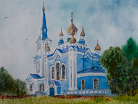 Church of the Entry of the Most Holy Virgin Mary in the Temple, Popova Svetlana : Children's Art Festival Our Kursk: CHILDREN DRAW THE CHURCH