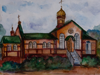 The temple complex of Faith, Hope, Charity and their mother Sophia, Galushkina Ekaterina : Children's Art Festival Our Kursk: CHILDREN DRAW THE CHURCH