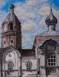 The Church of St. George of St. Pobednostsa, Belovo District, Vorobyyova Olga : Children's Art Festival Our Kursk: CHILDREN DRAW THE CHURCH