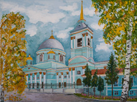 Cathedral of the Sign, Kursk, Razenkova Anna : Children's Art Festival Our Kursk: CHILDREN DRAW THE CHURCH