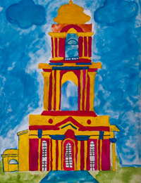 St. George Temple on Victory Avenue, Tatiana Artamonova : Children's Art Festival Our Kursk: CHILDREN DRAW THE CHURCH