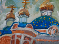 Ascension Church in Kursk, Ermolina Barbara : Children's Art Festival Our Kursk: CHILDREN DRAW THE CHURCH