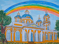 Znamensky Cathedral - the heart of the city, the city of Kursk, Sviridov Yegor : Children's Art Festival Our Kursk: CHILDREN DRAW THE CHURCH