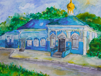 Church in honor of Our Lady of Holy Virgin, Shumakova Anastasia : Children's Art Festival Our Kursk: CHILDREN DRAW THE CHURCH