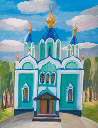 Nativity of the Blessed Virgin Mary, Трошина Дарья : Children's Art Festival Our Kursk: CHILDREN DRAW THE CHURCH