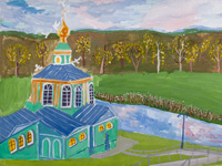 Spring is in the town of Freedom, Tatarenkova Elena : Children's Art Festival Our Kursk: CHILDREN DRAW THE CHURCH