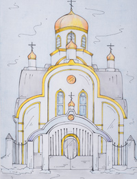 Church of the Holy Royal Martyrs, Kostin Pavel : Children's Art Festival Our Kursk: CHILDREN DRAW THE CHURCH