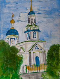 Church of the Epiphany, the settlement Peny, Belovo District, Lamanov Artem : Children's Art Festival Our Kursk: CHILDREN DRAW THE CHURCH
