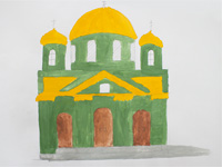 A fragment of the Sign Cathedral, Caplin Alexander :: Children's Art Festival Our Kursk: CHILDREN DRAW THE CHURCH