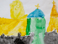 Cathedral of the Sign, Kursk, Bespalova Polina :: Children's Art Festival Our Kursk: CHILDREN DRAW THE CHURCH